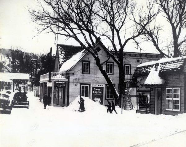 Village de St-Sauveur, vers 1950, St-Sauveur
